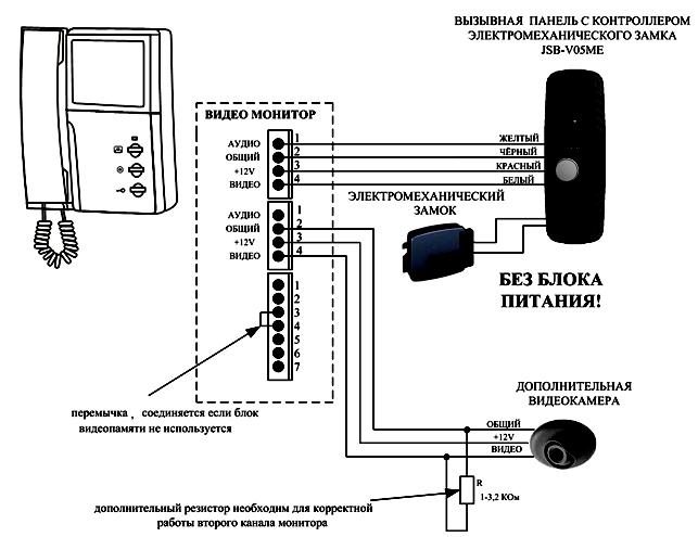 План подсоединения проводов