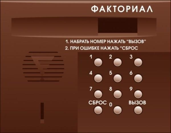 вызывная панель домофона
