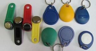 разные виды ключей от домофона