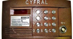 вызывная панель cyfral