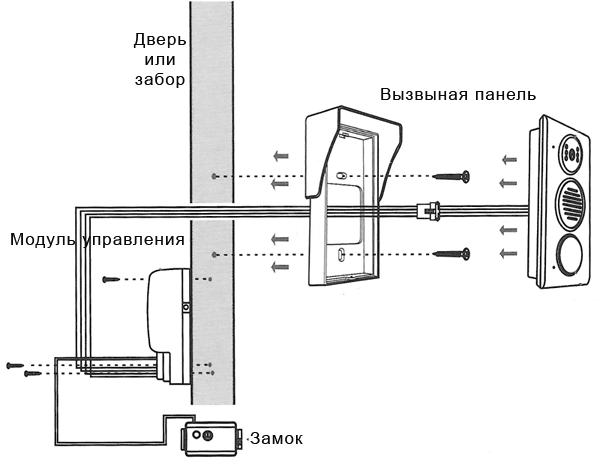 Домофон на калитку схема подключения