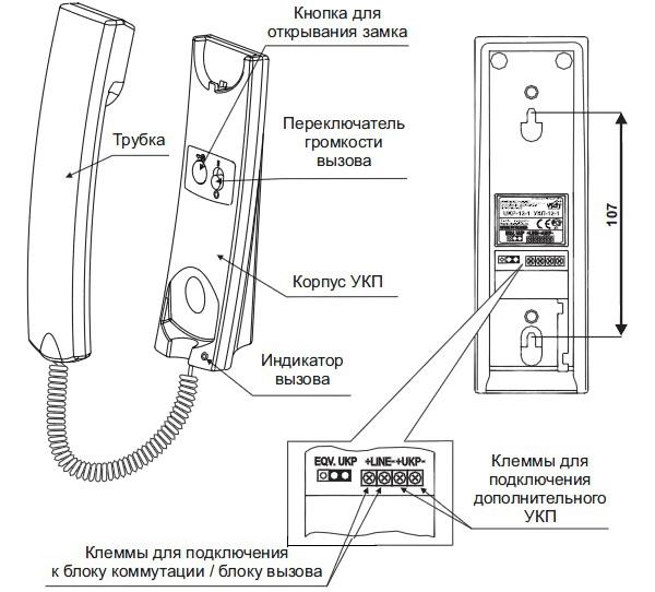 Схема подключения аудиодомофон