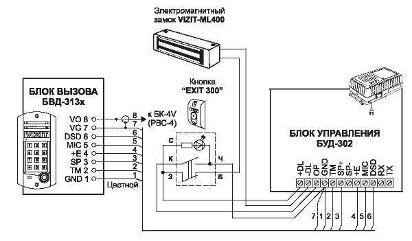 Схема домофон metakom